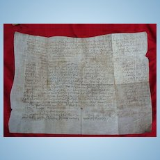 18th century Anne,Queen of England Great Britain Document on Vellum