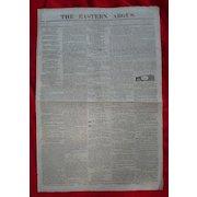 Original 1818  Portland,Me Newspaper The Eastern Argus ~Runaway Slaves