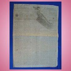 Boston 1813  Newspaper Columbian Centinel Creek War Gen. Andrew Jackson Letter