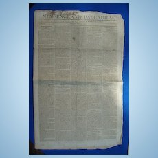 War of 1812 The New England Palladium Newspaper July 24 1812