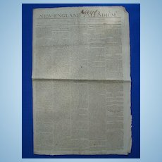 New England Palladium Newspaper June 12 1812 ~Boston Citizens Told to Arm Themselves !