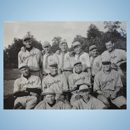 1915 Maywood,Indiana Baseball Team Photo ~One Happy Bunch of Stenographers
