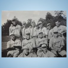 1915 Maywood,Indiana Baseball Team Photo ~One Happy Bunch of Stenographers
