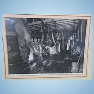 1915 Cabinet Photo of Bloody Horse  Slaughterhouse Spokane Washington