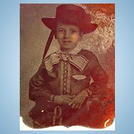 Ambrotype of Mobile,Alabama Southern Boy in Elaborate Attire