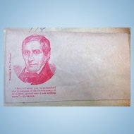 William Henry Harrison Civil War Political Illustrated Patriotic Cover