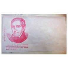 William Henry Harrison Civil War Political Illustrated Patriotic Cover
