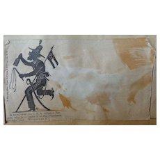 Civil War Confederate Alligator Rangers Cover Envelope