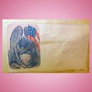 Confederate Civil War illustrated Patriotic Cover THE DEVIL & CSA WHISKEY
