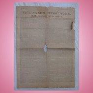 The Salem Messenger Newspaper July 30 1831 Trials & Tribulations