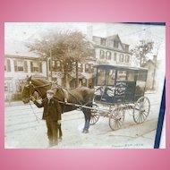 1904 Photograph of Homeyer's Dairy Wagon Wenatchee ,Washington