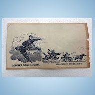 Extremely Rare Civil War Patriotic Cover Sherman's Flying Artillery