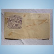 "South Carolina Confederate Postal Cover Southern Rights ""Death Before Dishonor"