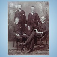 Jefferson City,Missouri Prison Staff c.1870's Albumen photograph