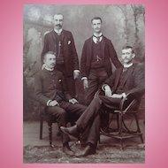 Jefferson City,Missouri Prison Staff c.1870's Albumen photograph