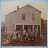 Orphan Train House Albumen Photograph