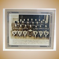 RARE 1935 F.B.I. Sports Basketball Team Photograph