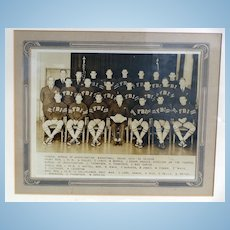 RARE 1935 F.B.I. Sports Basketball Team Photograph