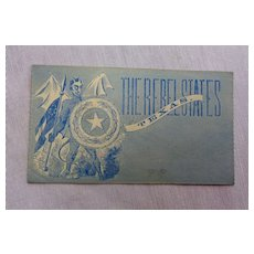 Civil War Patriotic Cover Texas Rebel State In Bed with Devil