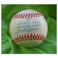 1971 Oakland A's Team Autographed Baseball
