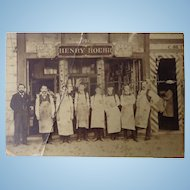 Cabinet Photo of  Henry Roehr California Cigar Factory and Barbershop
