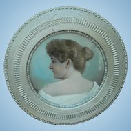 Portrait of Mrs. Arnoff Cincinnati,Ohio in Unusual  Victorian Circular Frame