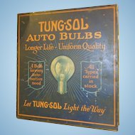 Early Tung-Sol Auto Bulbs Tin Display Cabinet