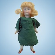 19th century German Bisque Pocket Doll from Virginia School Teachers Estate
