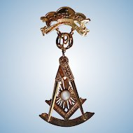 Masonic 10 kt. Gold Medal Hope Lodge Wakefield,Rhode Island