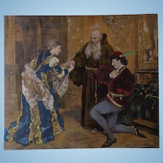 Romeo and Juliet 1882 Chromolithograph Print