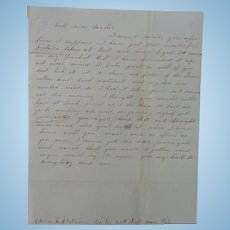 Civil War Letter Edwin Stetson Co.E 23rd Reg. Mass I'm Having My Picture Taken !