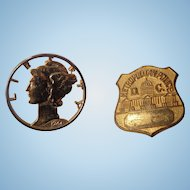 Old Obsolete Metropolitan Washington D.C.Police Badge