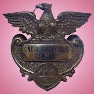 O'Neil Sheffield Shopping Center Obsolete Badge Lorian County,Ohio Akron Ohio