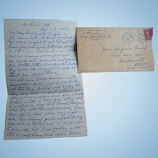 Great Letter describing Copperhead Last of Seneca Indians Rochester,N.Y, 1928