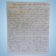 1850 Gold Rush Letter Cover Harrisonville,MO Jacksboro Campbell County T