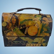 1968 Shabby Chick Hippie  decoupage Lunch Box