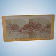 Strange Stereoview Elephant Head Mountain  Vermont 1877