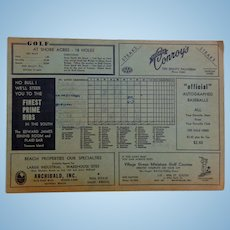 1953 Cardinals vs Phillies Spring Training Program autographed by Players