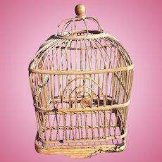 Victorian Wicker Bird Cage