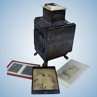 1890's Photographers Kerosene Developing Lantern w/ Gargoyle Feet