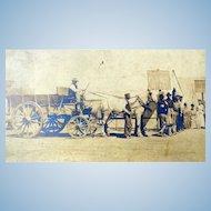 1906 San Francisco Earthquake Refugee Camp Photo Ft. Mason RARE IMAGE!