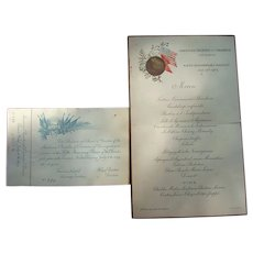 American Chamber of Commerce Banquet Menu held in Paris,France 1903