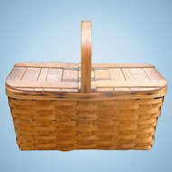 Beautiful Antique Picnic Basket Haywood-Wakefield