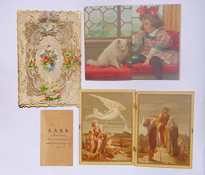 Trade cardsdie cuts and elaborate chromolithography greeting cards trade cardsdie cuts and elaborate chromolithography greeting cards from one victorian lady m4hsunfo