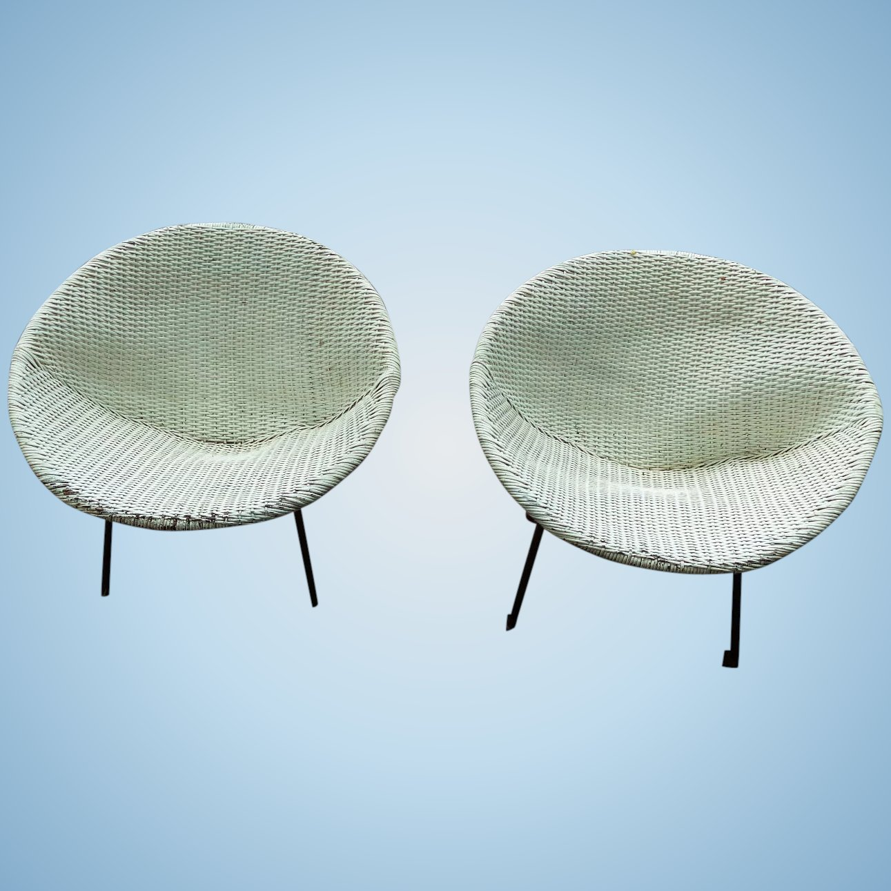 Ginchiest Danish Mid Modern C 1950 S Patio Sphere Chairs