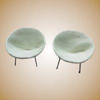 Ginchiest Danish Mid-Modern c.1950's Patio Sphere Chairs