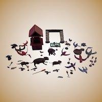 INCREDIBLE Southern Folk Art Creation Noah's Ark of Animals  19th century Lake County,Florida