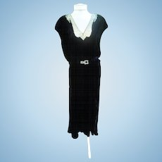 Little Black Dress Art Deco Beaded Beauty