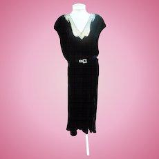 Little Black Dress Art Deco Beaded Beauty