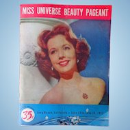 Original 1952 Miss Universe Pageant Program Archive from Pageant's Announcer